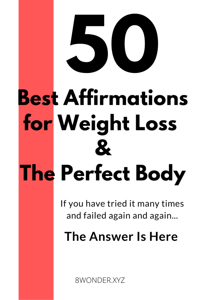 50 best affirmations for weight loss