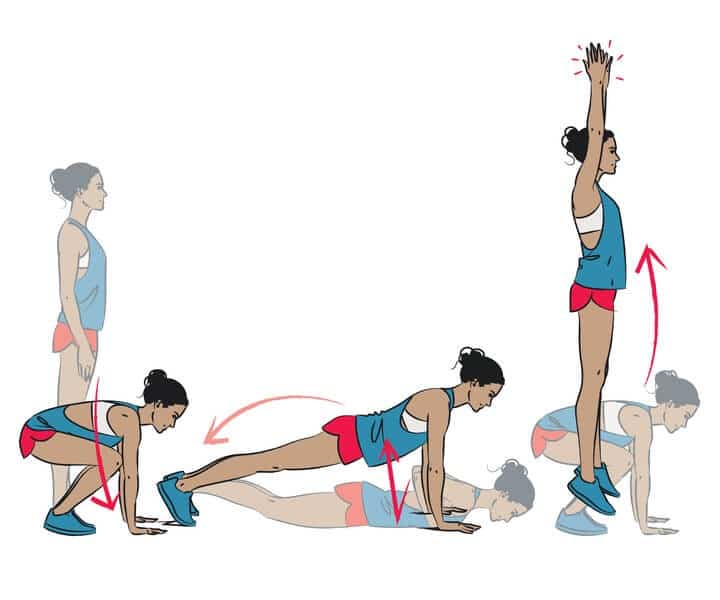 Burpees in morning workout