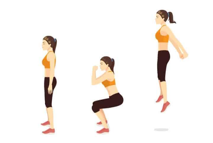 Morning workout Jump squats