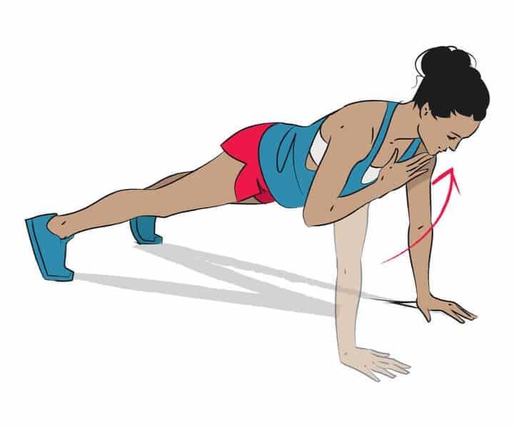workout Shoulder taps