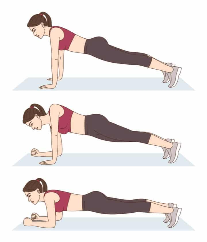 Up and down plank