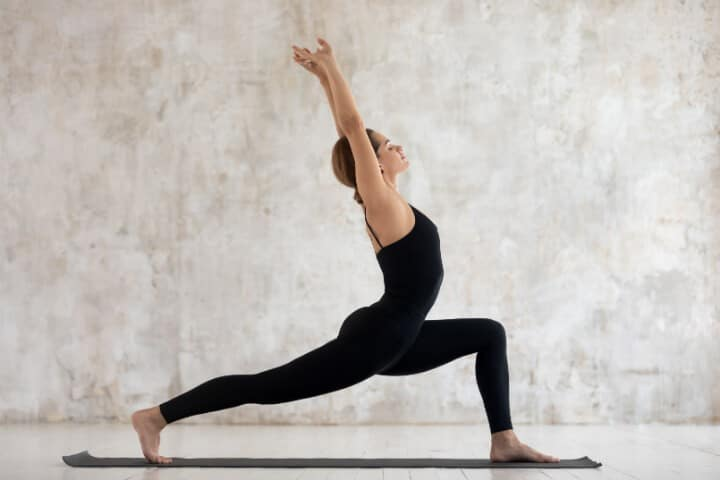 Virabhadrasana yoga for weight loss