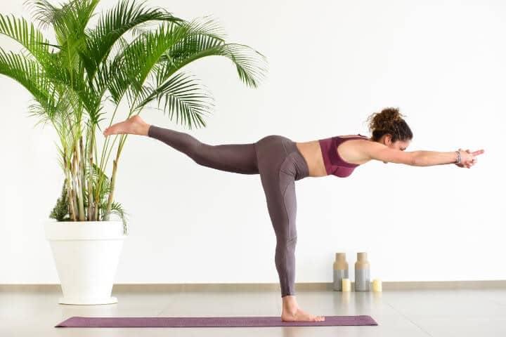 Weight loss yoga Virabhadrasana