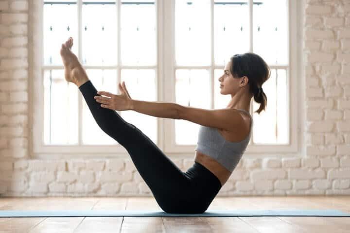 Yoga Abdominal Exercise Navasana - Boat Pose